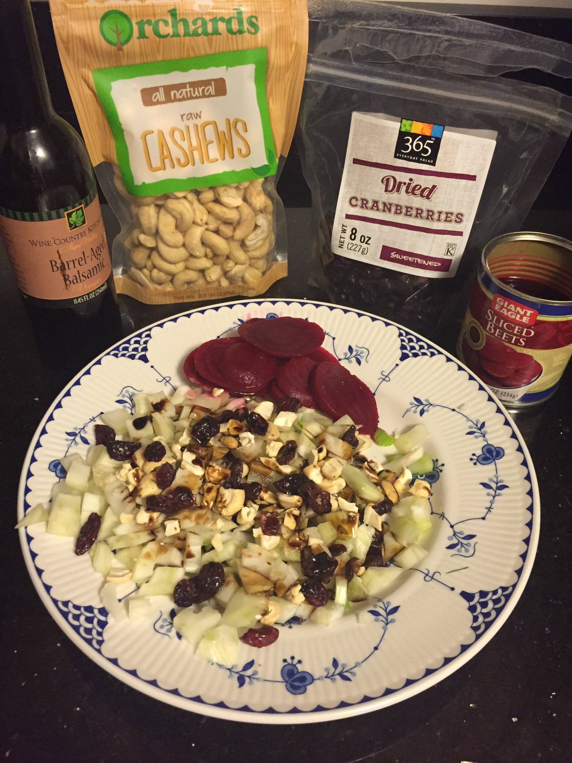 Image of fennel salad and ingredients