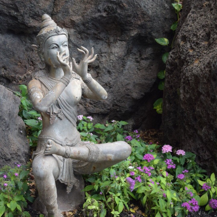 Image of statue meditating
