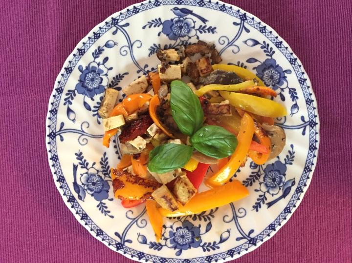 image of basil teriyaki tofu dish