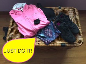 JUST DO IT SLOGAN AND RUNNING ATTIRE