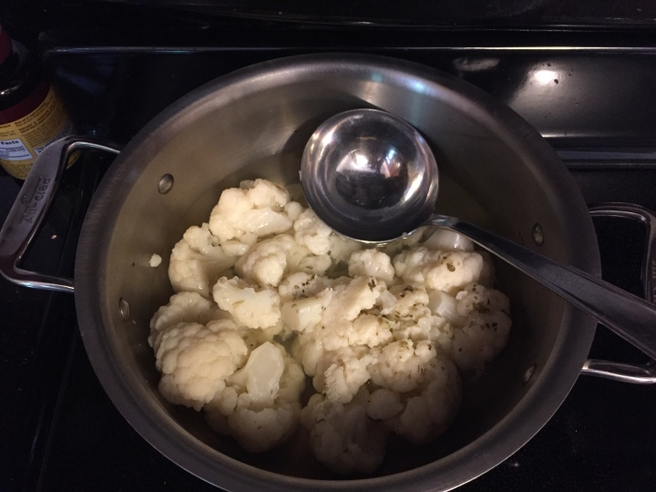 Cauliflower in pan