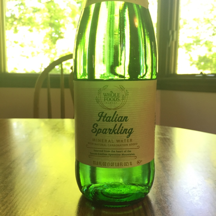 Bottle of Whole Foods Italian Sparkling Water
