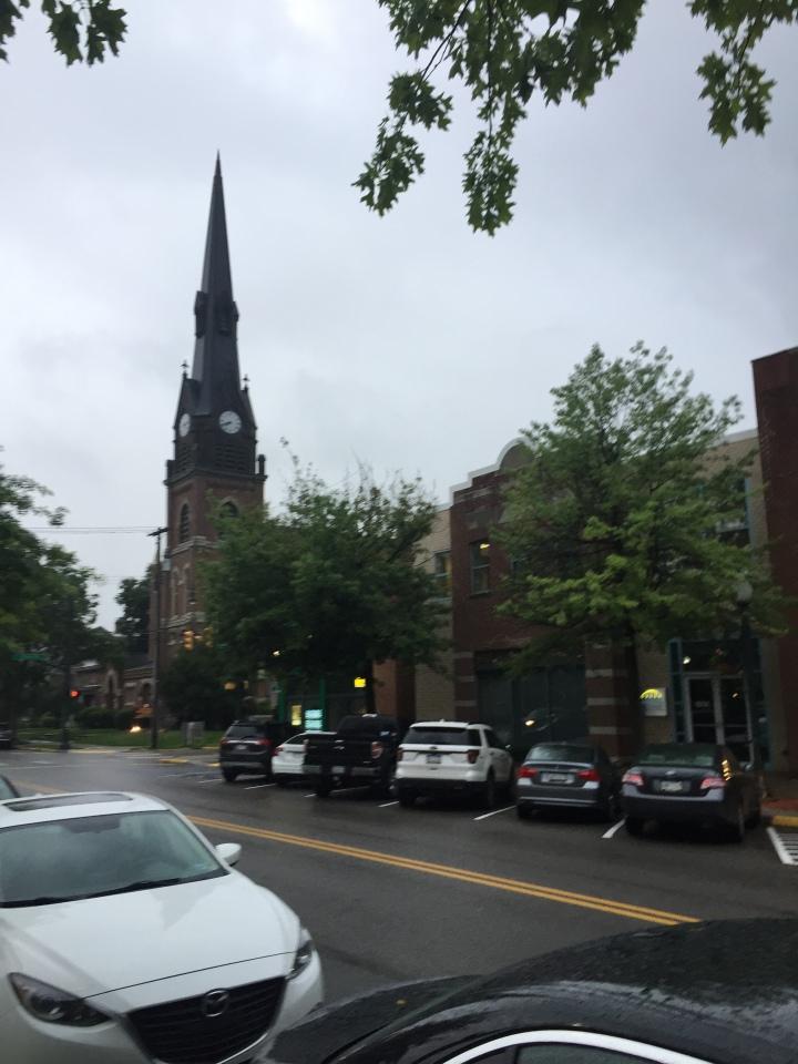 Church clock steeple