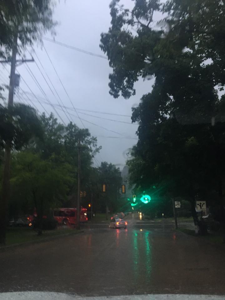 Rain on street