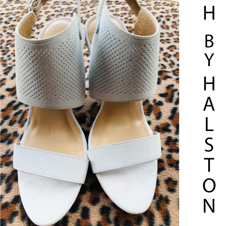 halston wedge sandals