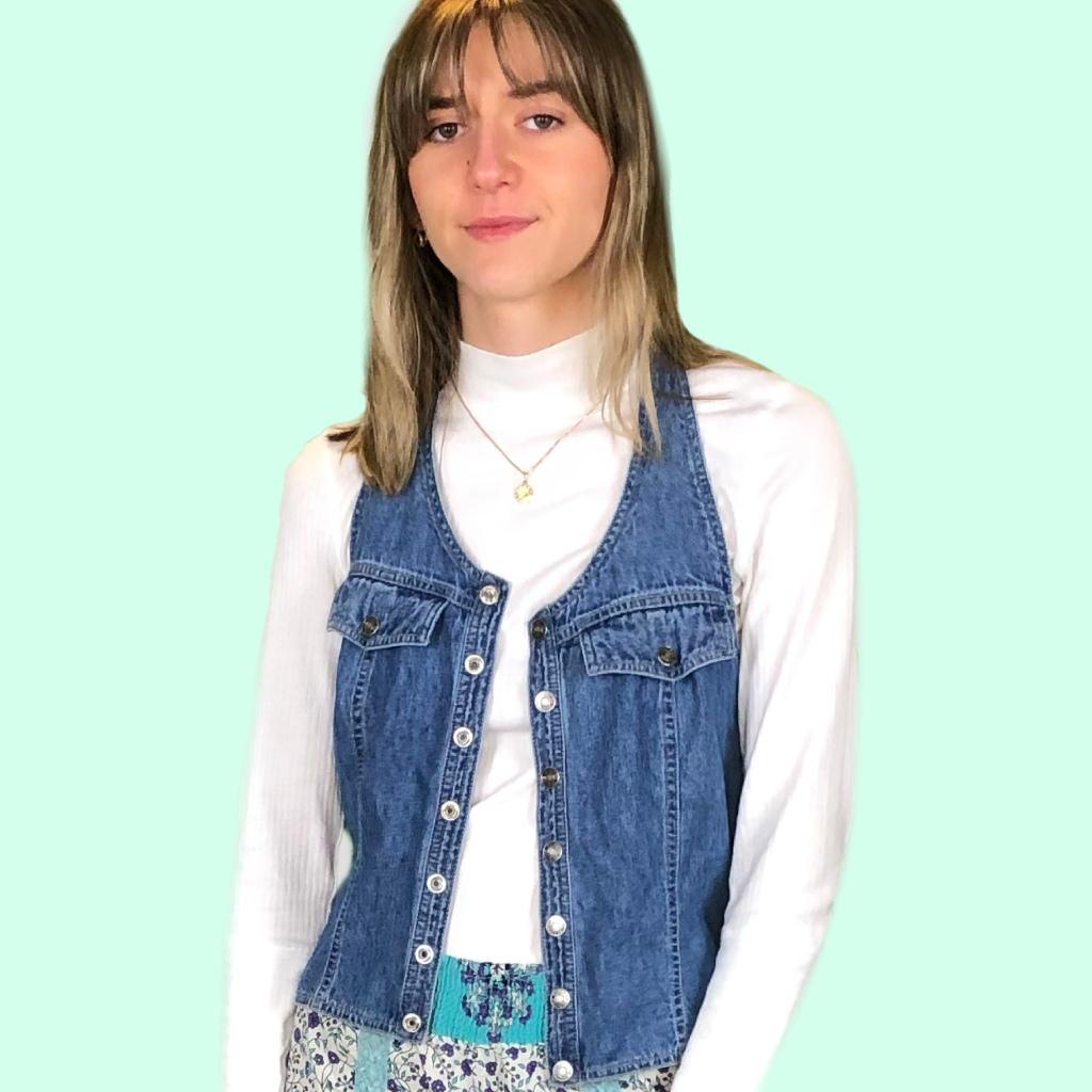 vintage halter top worn as vest