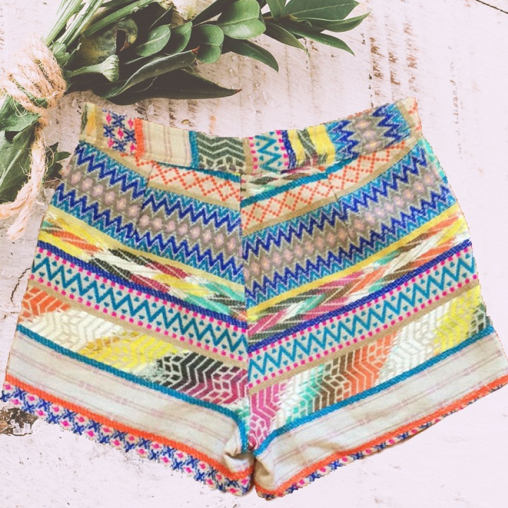 Francesca tribal colorful shorts