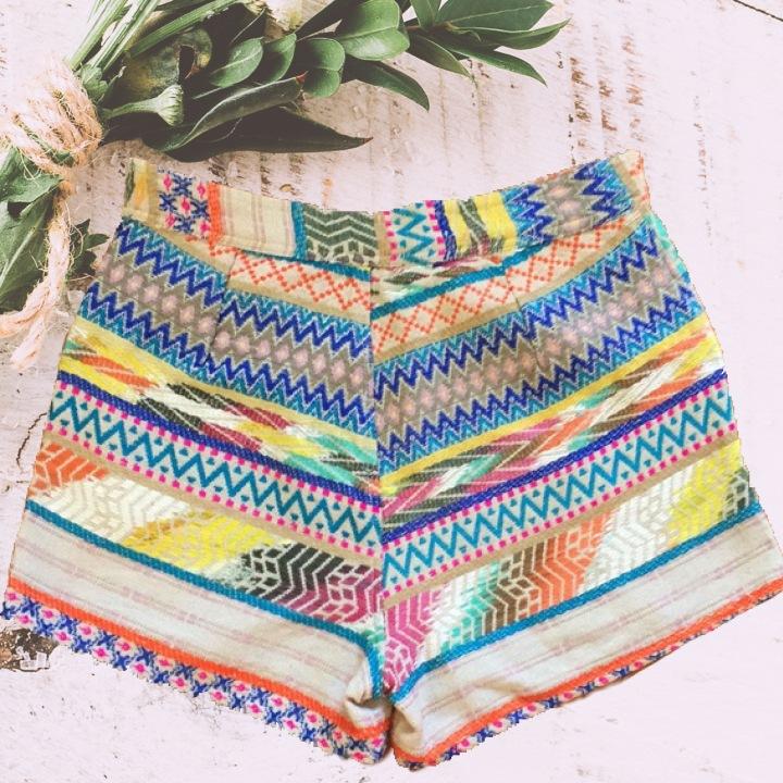 Francesca tribal colorful shorts