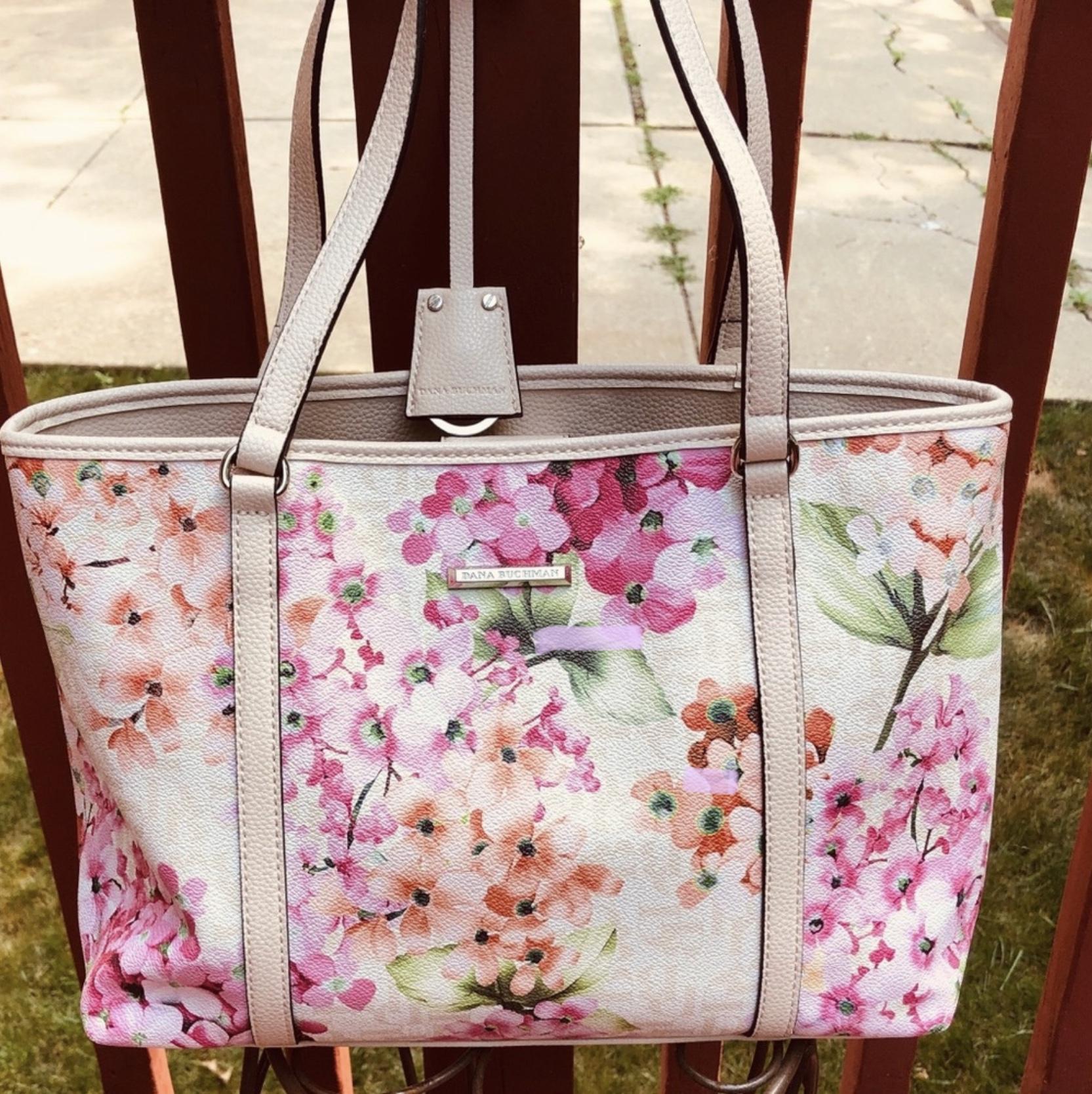 Dana Buchman Large Floral Tote Bag